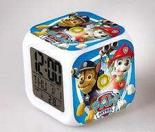 1x GIFTS FOR KIDS – NEW 7 LED Colour Paw Patrol Digital ALARM CLOCK Nursery Toy