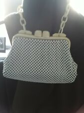 Whiting And Davis Cream Mesh Bag 50s/60s