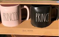 Rae Dunn - Magenta - Pink Princess Black Prince Mug Set - Artisan Collection