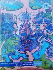 Fun Map Plan Detaillé Disneyland Paris Affiche  Poster 100x66cm