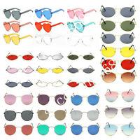 Vintage Fashion Oversized Sunglasses Men Women's Retro Mirror Gradient Glasses