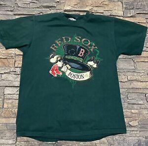 Boston Red Sox T Shirt Fenway St Patricks Day Green Sz S/M Lee Sports