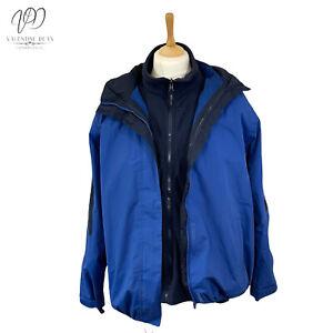Regatta Professional 3 in 1 Jacket Outdoor Unisex Size 18 Uk 44 Blue Waterproof