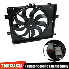 Radiator Cooling Fan Assembly For 2012-2017 Nissan Versa Note Two Plug Cvt Trans