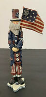 Americana Country Folk Art Primitive Uncle Sam Pencil Figure Vintage Resin