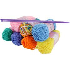 Craft knitting Starter Kit 5mm aiguilles couleur 7 pelotes de laine hobby fils set 20g