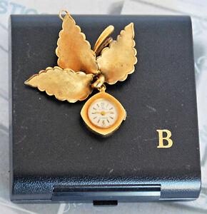 RARISSIMO orologio spilla ciondolo BUCHERER d'epoca eccellenti condizioni + box