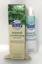 Tom's Natural Conditioning Shave Cream 3.6 Oz Refreshing Mint