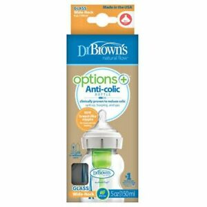 Dr Brown's Options+ Glass Wide Neck 150ml Bottle Busted Packaging