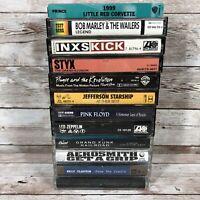 Lot Of 11 Rock Cassette Tapes, Prince, Aerosmith, Led Zeppelin, Van Halen, Styx