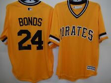 New listing 9710 MAJESTIC Pittsburgh Pirates BARRY BONDS Baseball Cool Base JERSEY GOLD New
