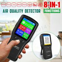 8 in 1 PM2.5 Air Quality Monitor PM10 Formaldehyde HCHO AQI Digital Detector AU