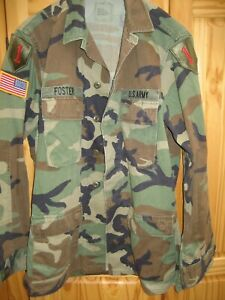 Original US Uniform BDU Woodland Field Jacket/ Feldjacke, Feldbluse,Medium,LONG!