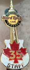 Hard Rock Cafe TORONTO 2013 35th Anniversary STAFF PIN Maple Leaf Guitar #75358