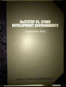 NeXTSTEP VS. Other Environments and Object Technologies Center Vintage Brochure
