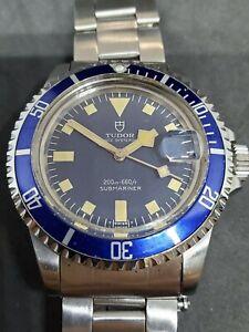 Vintage Tudor Prince Oysterdate Submariner Date Blue Snowflake Ref. 94110
