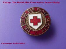 Vintage The British Red Cross Society Enamel Badge AH9886.