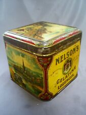ANTIQUE VICTORIAN NELSON DALE & Co Ltd/WARWICK GELATINE LOZENGES PICTORIAL TIN