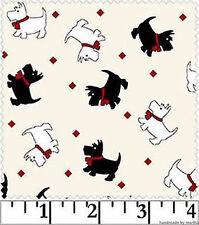Fabric Walk in Park MAS8801 Scottie Dogs Reproduction Cotton Fabric Maywood