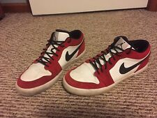 2012 NIKE Air JORDAN Retro V.1 SIZE 10.5 WHITE BLACK RED LOW TOP 481177-101