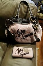 Juicy Couture Pink Rose Hearts Bling Daydreamer Bag Heart Mirror Purse w Wallet
