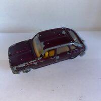 1968-71 Corgi Toys - 260 RENAULT 16 TS reclining Seats Maroon Unboxed
