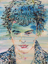 SID VICIOUS - ORIGINAL oil painting - ONE of a KIND! sex pistols punk rock head