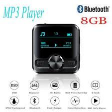 HIFI Bluetooth Sports Clip MP3 Player Music Media Voice Recorder 8GB&FM Radio