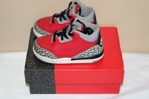Nike Air Jordan 3 Retro SE Fire Red - Cement Grey Size 7C WITH OG BOX