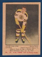 VICTOR IVAN LYNN ROOKIE RC  51-52 PARKHURST 1951-52 NO 20 GOOD+ 23929