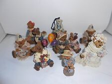 9 Vintage Boyds Bears Figurines All Very Good Condition