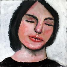 Original Oil Portrait Painting 6x6 Portrait Art Katie Jeanne Wood