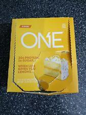 damaged box One Lemon Cake Protein Bar BBY 10/2020