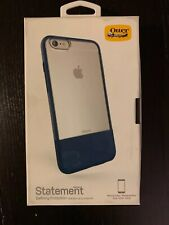 Otterbox iphone 6 Plus or 6s Plus Blue Leather Case and Glass Screen Protector
