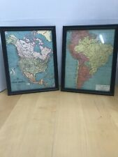 """Bacon's Excelsior MAP of North And South America 8""""x10"""""""
