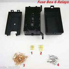 Fuse Box Auto 6 Relays Block Holder 5Road For Nacelle Car Trunk Insurance 4Size