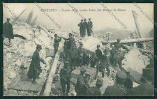 L'Aquila Avezzano Terremoto Banca Militari cartolina QQ3918