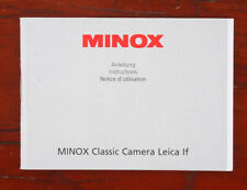 MINOX CLASSIC CAMERA LEICA If INSTRUCTION BOOK/187053