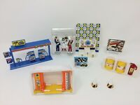 Vintage NOS Toy Lot Formula 1 One Race Car Gas Station Oil Signs Racing Track RR