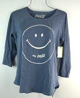 SLucky Brand Women's Coca Cola Smile Tee Size S in American Navy T-shirt Top