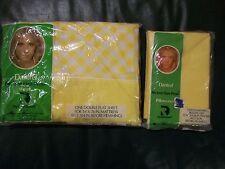 NOS Vintage Springmaid Sensalure Queen Flat Sheets &  2 Pillow Cases