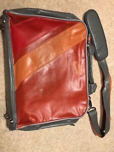 Nike Retro Shoulder Bag Satchel - Red, Orange, Grey