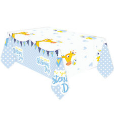 Boys Christening Plastic Table Cover