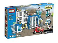City Police Station Building Brick Set - 870pcs - COMPATIBLE with Leading Brand