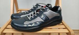 Prada American Cup 4E 1533 Men Sneakers Shoes Patent Leather UK 10 US 11 EU 44.5