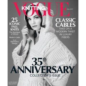 Vogue Knitting Magazine Fall 2017 Brand New Knitting Patterns