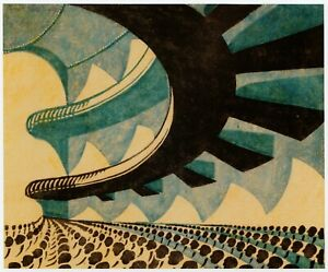 Concert Hall Sybil Andrews print in 11 x 14 inch mount ready to frame SUPERB