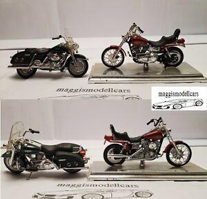 2x Harley-Davidson DWG+FLHR Motorräder Modelle aus Sammlung Maßstab 1:18 Maisto