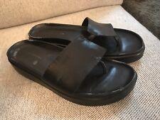 Donald Pliner FIFI  Sandals  Slides Black  Size 10