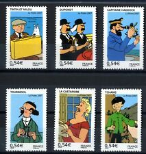 Stamps tintin france 2007 6 values stamps france